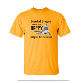 Bearded Dragon Happy Unisex Tee