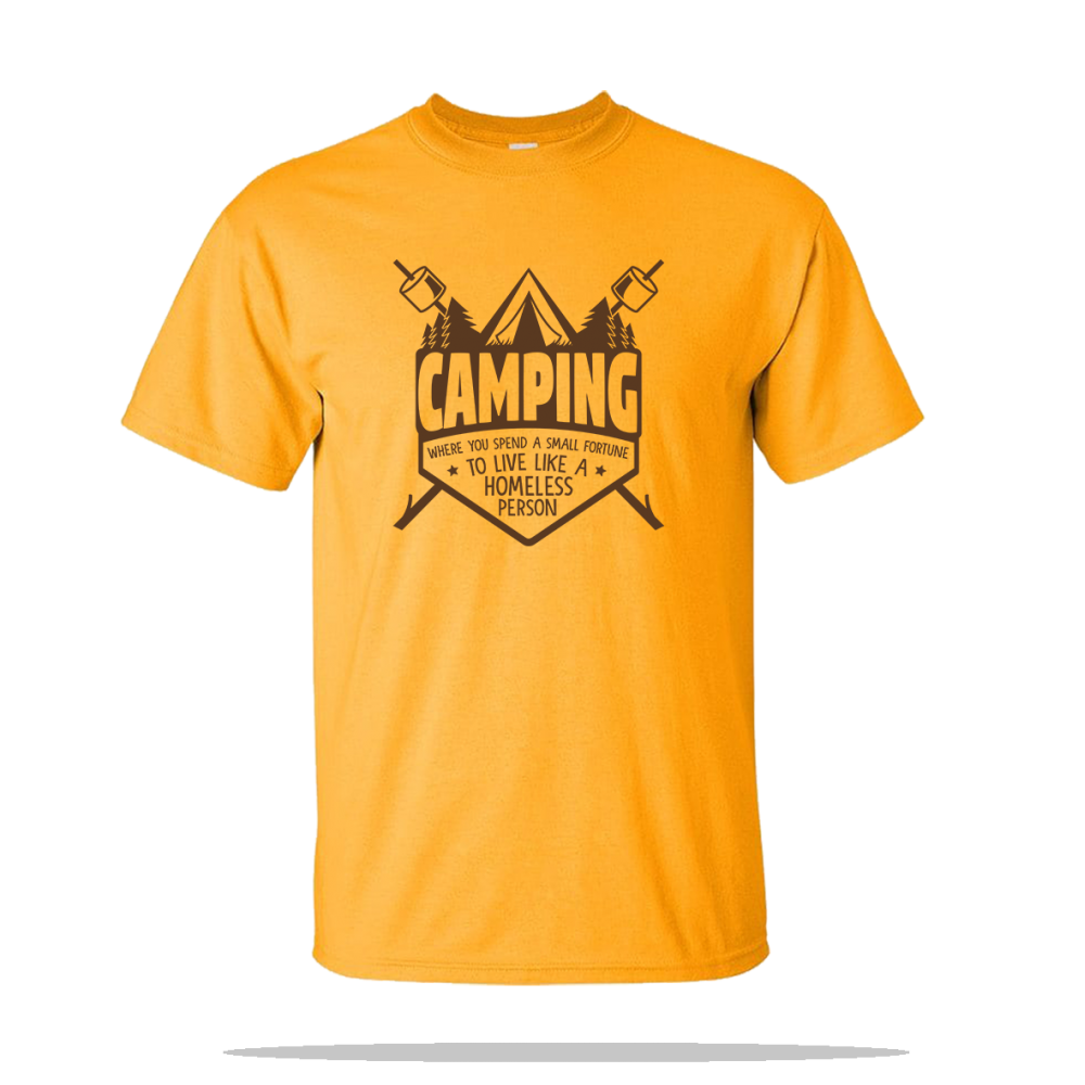 Camping Homeless Person Unisex Tee