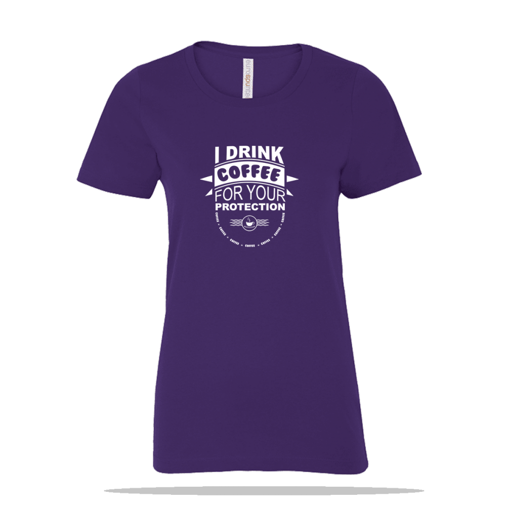 Coffee For Protection Ladies Tee