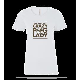 Crazy Pug Ladies Tee