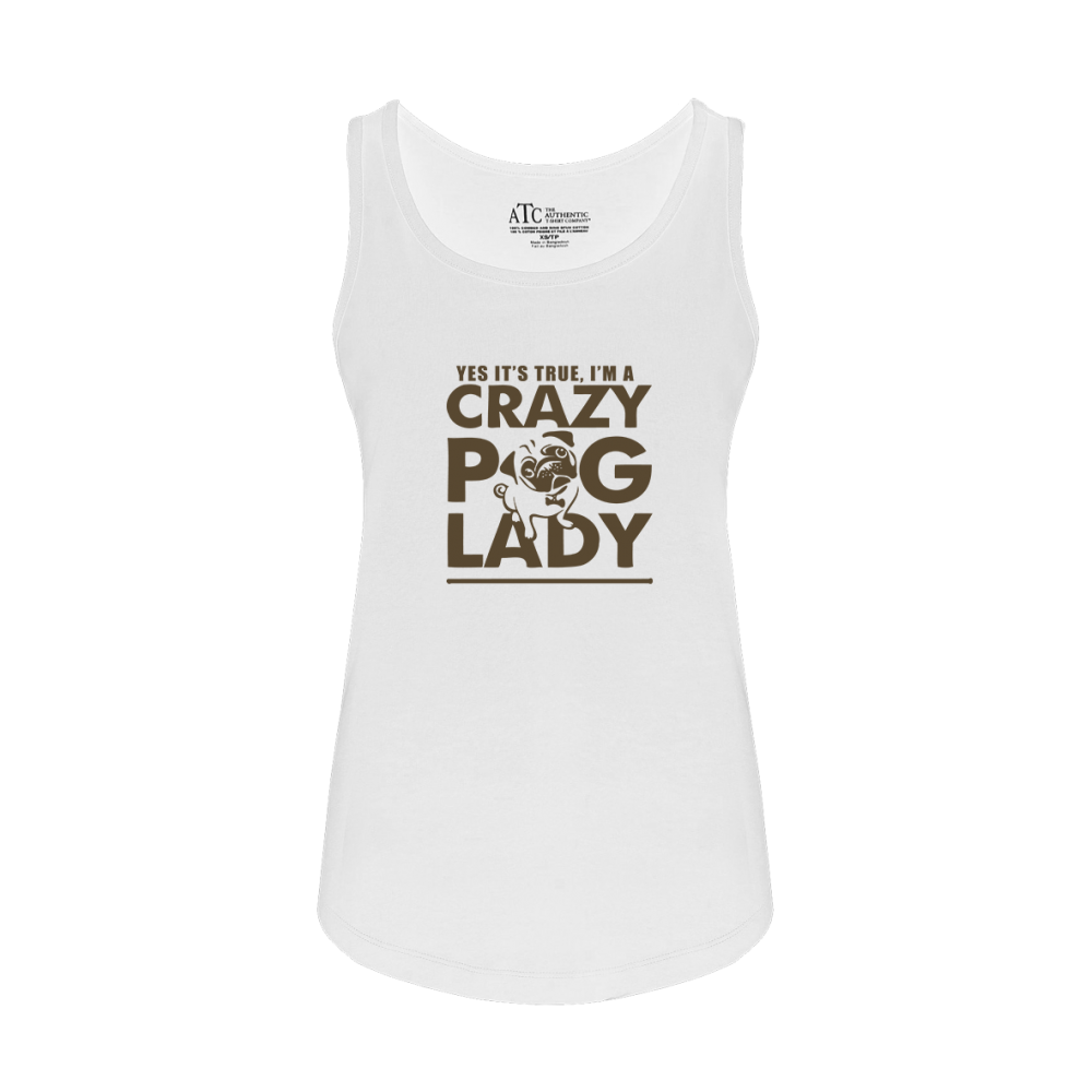 Crazy Pug Ladies Tank Top