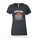 Curling Bacon Sports Ladies Tee