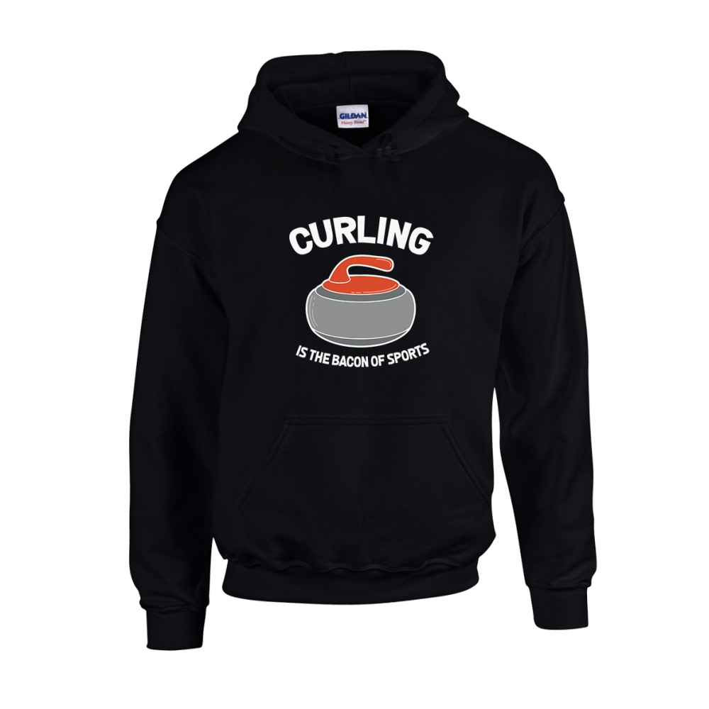 Curling Bacon Sports Unisex Hoodie
