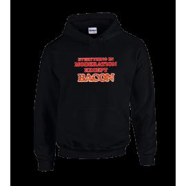 Except Bacon Unisex Hoodie