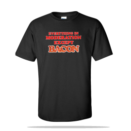 Except Bacon Unisex Tee