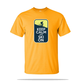 Keep Calm Ski On Unisex Tee