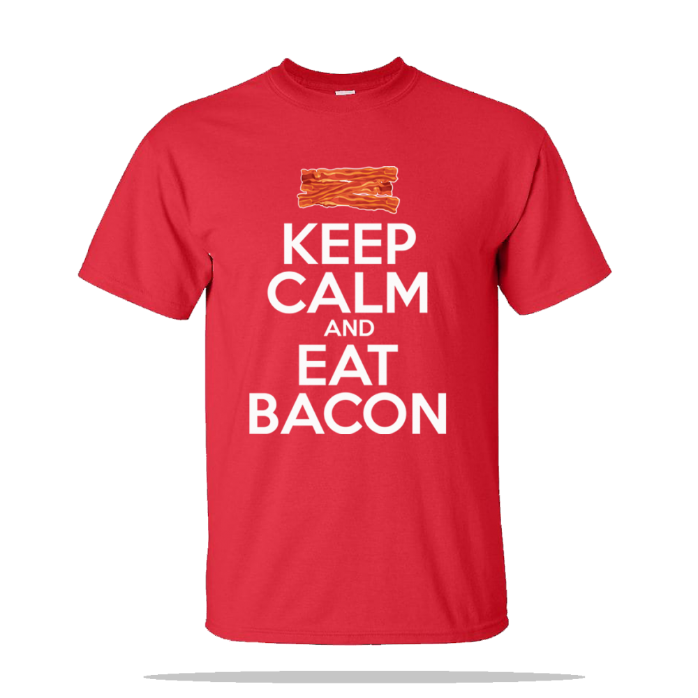 Keep Calm Eat Bacon Unisex Tee