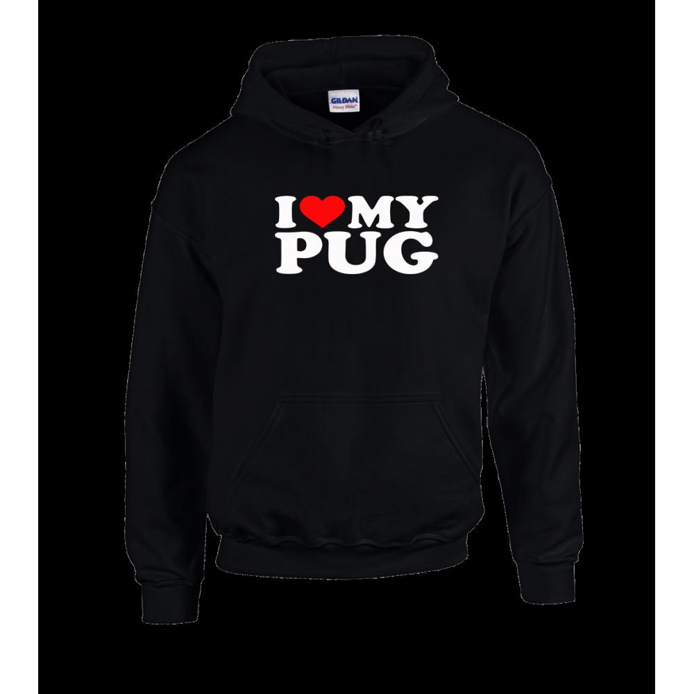Love Pug Unisex Hoodie