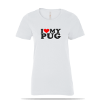 Love Pug Ladies Tee