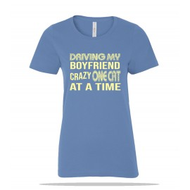 One Cat at a Time BF Ladies Tee
