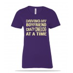 One Dog at a Time BF Ladies Tee