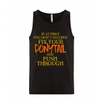 Ponytail Unisex Tank Top