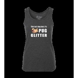 Pug Glitter Ladies Tank Top