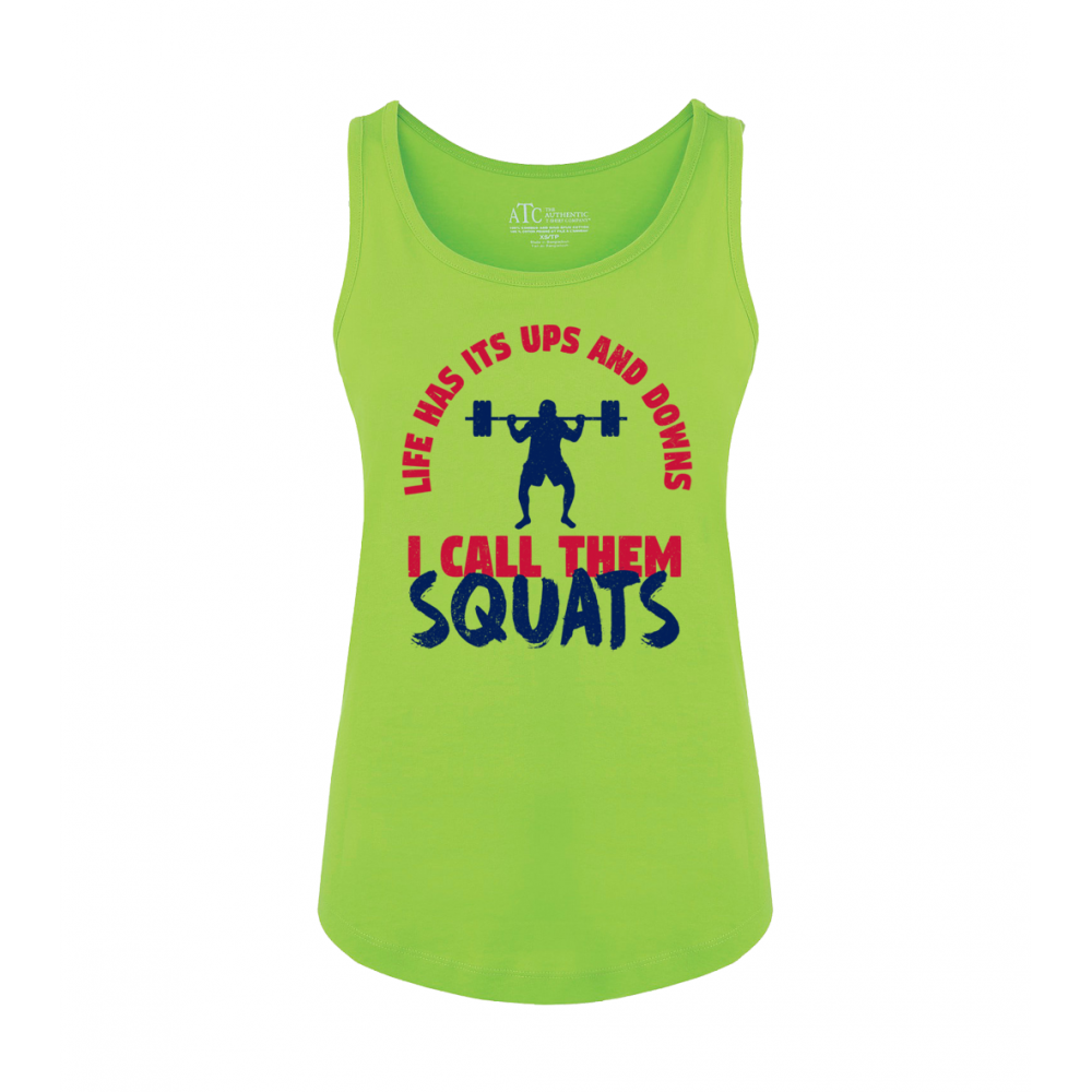 Squats Ladies Tank Top