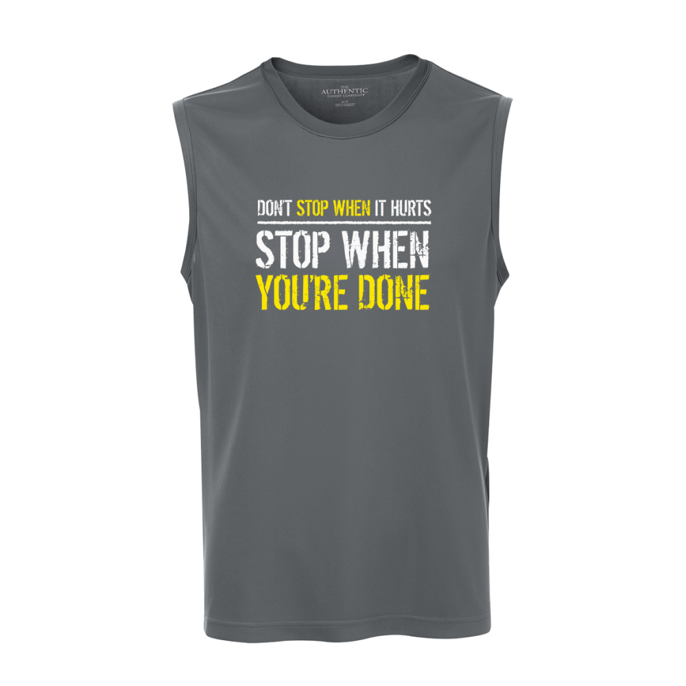 Stop When Done Unisex Sleeveless Top