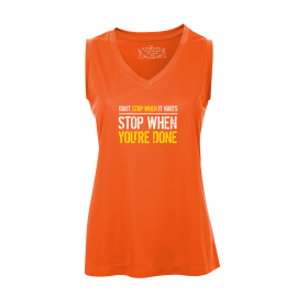 Stop When Done Ladies Sleeveless Top