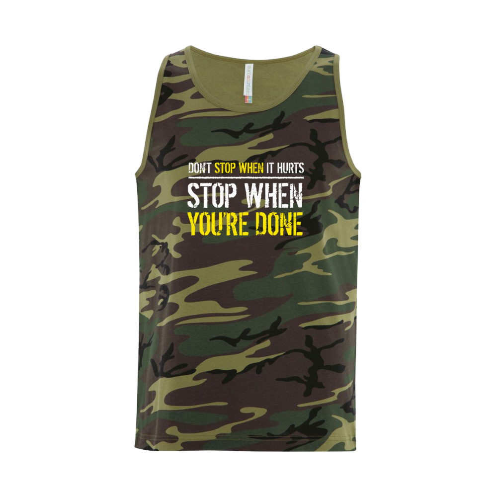 Stop When Done Unisex Tank Top