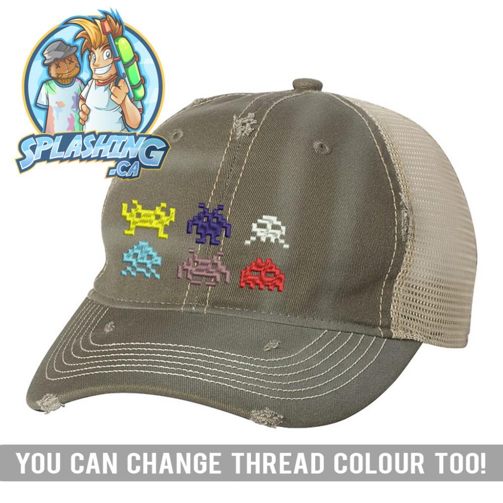 Invaders Custom Distressed Cap