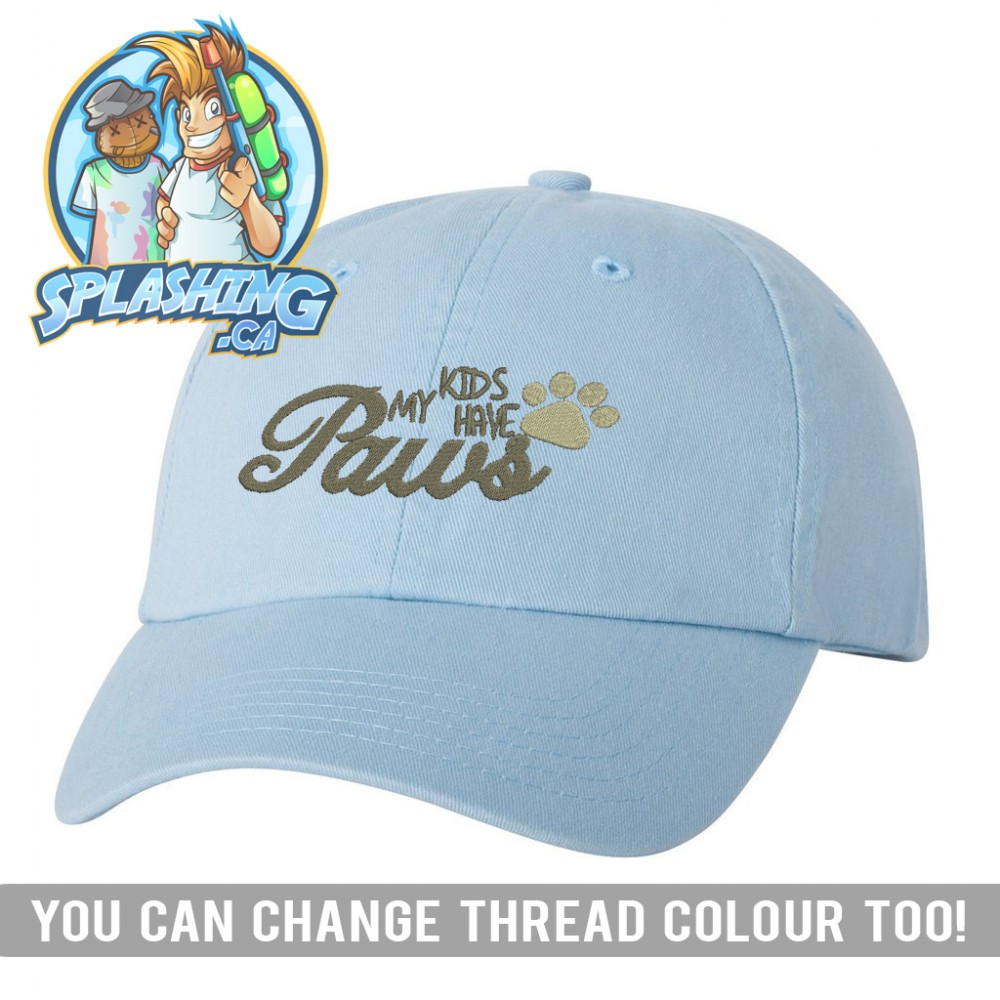 My Kids Have Paws Dad Cap