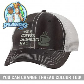 Name Coffee Custom Distressed Cap