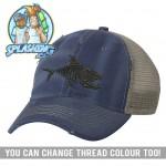 Skelly Fish Distressed Cap