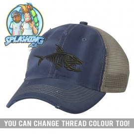 Skelly Fish Distressed Cap